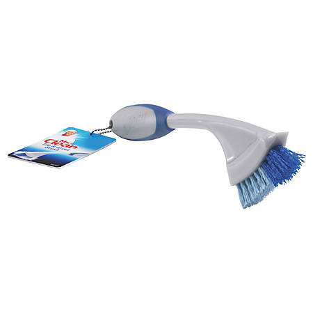 """Mr. Clean® Tile & Grout Brushes, 9"""", Gray/Blue, Box Of 3 Brushes"""