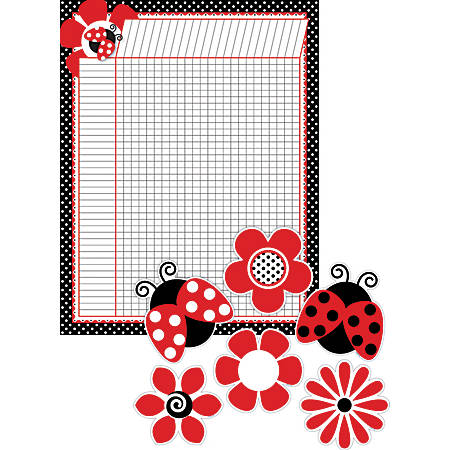 """Barker Creek Chart And Accent Set, 5 1/2"""" x 22"""", Just Dotty"""