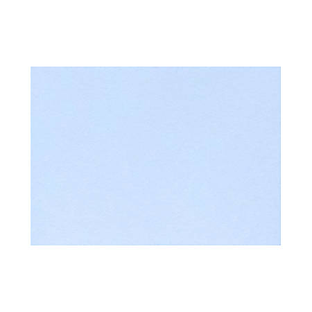 "LUX Flat Cards, A1, 3 1/2"" x 4 7/8"", Baby Blue, Pack Of 50"