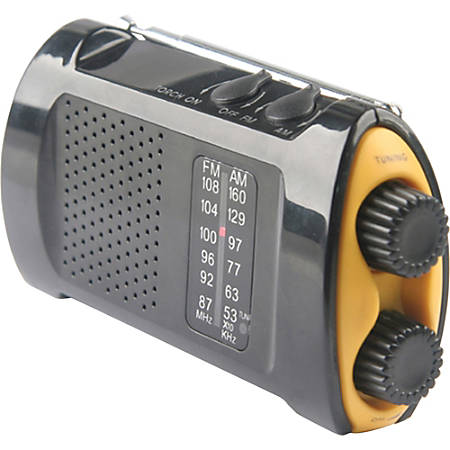 Acme United Portable AM/FM Crank Radio