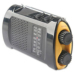 Acme United Portable AMFM Crank Radio