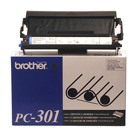 Brother® PC-301, Black Print Cartridges, Pack Of 2