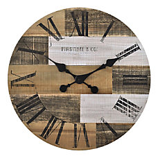 FirsTime Co Pallets Wall Clock Multicolor