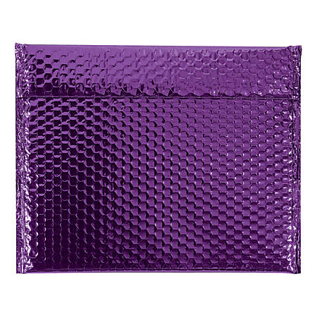 """Office Depot® Brand Glamour Bubble Mailers, 11""""H x 13-3/4""""W x 3/16""""D, Purple, Case Of 48 Mailers"""