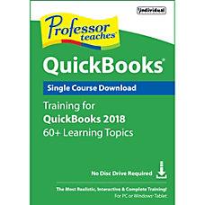 Professor Teaches QuickBooks 2018 Download Version