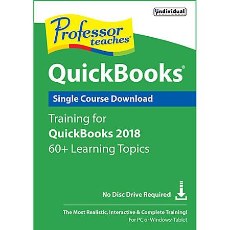 Professor Teaches QuickBooks 2018, Download Version