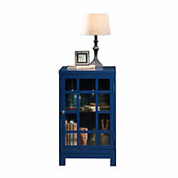 Sauder Carson Forge Display Cabinet Indigo