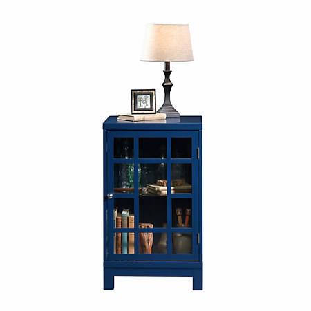 Sauder® Carson Forge Display Cabinet, Indigo Blue