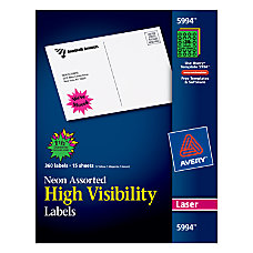 Avery High Visibility Permanent Burst Labels