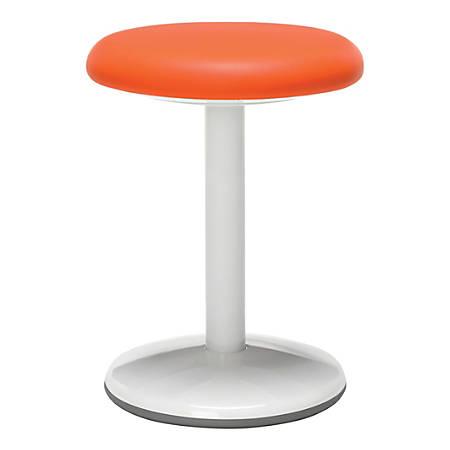 "OFM Orbit Static 18"" Stool, Orange/White"