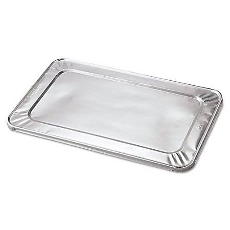 "Handi-Foil Steam Table Pan Foil Lids, Full-Size, 20 13/16"" x 12"", Aluminum, Case Of 50"
