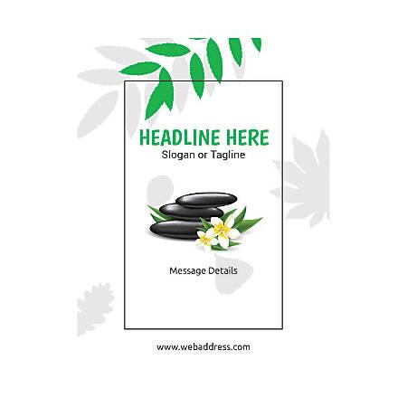Custom Flyer, Vertical, Spa Stone Green