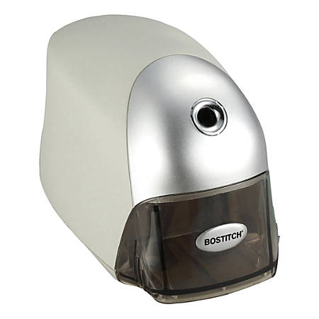 "Bostitch Electric Pencil Sharpener - Desktop - 1 Hole(s) - 3.5"" Height x 7.5"" Width x 4.3"" Depth - Gray, Silver"