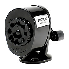 Bostitch Antimicrobial Manual Pencil Sharpener Black