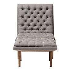 Baxton Studio Yasin Fabric Chair And