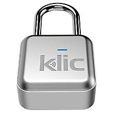 Klic Smart Bluetooth Padlock Silver