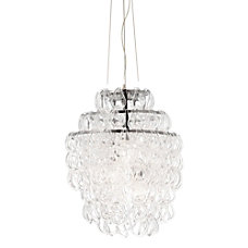 ZUO Cascade Ceiling Lamp Clear