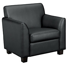 Basyx Leather Club Chair Black Leather