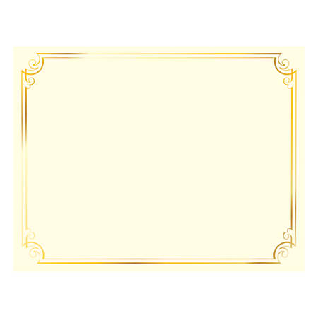 Great Papers Foil Certificate 8 12 x 11 Golden Scroll Frame Pack Of ...