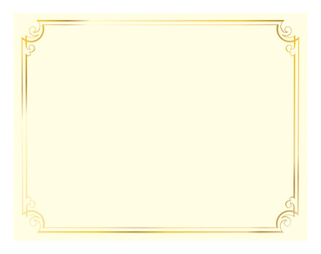 Great Papers Foil Certificate 8 12 X 11 Golden Scroll Frame Pack Of