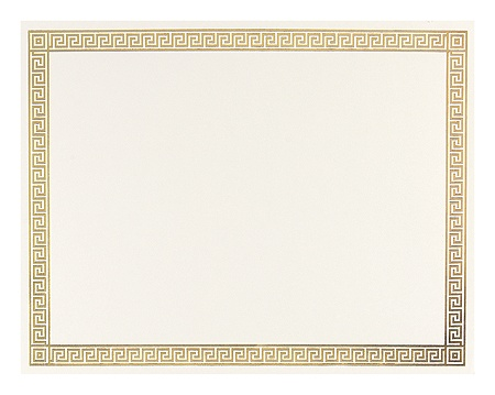 Great Papers Foil Certificate 8 12 x 11 Channel Border Pack Of 12 by ...