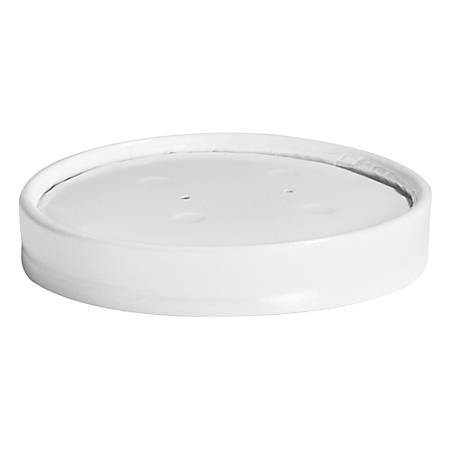 Chinet® Vented Paper Lids, For 8 - 16 Oz Cups, White, 25 Lids Per Sleeve, Carton Of 40 Sleeves