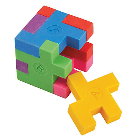 Office Depot® Brand Puzzle Erasers, Multicolor, Pack Of 2 Erasers