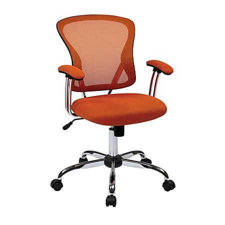 Office Star™ Avenue Six® Juliana Mesh Task Chair, Orange/Silver
