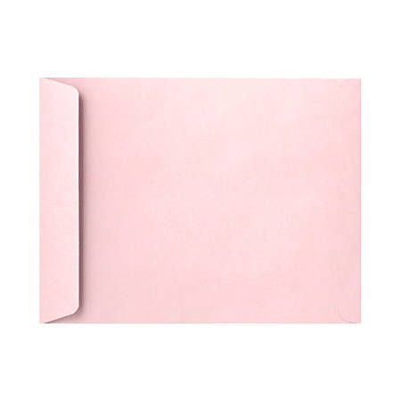 "LUX Open-End Envelopes With Peel & Press Closure, 9"" x 12"", Candy Pink, Pack Of 1,000"