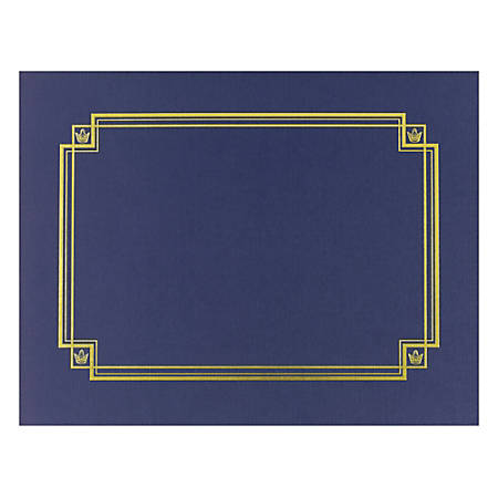 great papers linen certificate covers 12 x 9 38 navy pack of 3 by