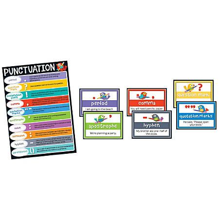 Carson-Dellosa Boho Birds Punctuation Bulletin Board Set, Multicolor, Grades 2-5
