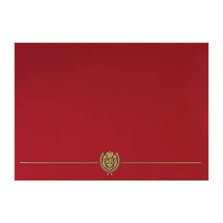 """Great Papers! Classic Certificate Covers, 12"""" x 9 3/8"""", Red, Pack Of 5"""