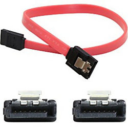 AddOn 5-pack of 61cm (2.0ft) SATA Female to Female Red Serial Cables - 100% compatible and guaranteed to work