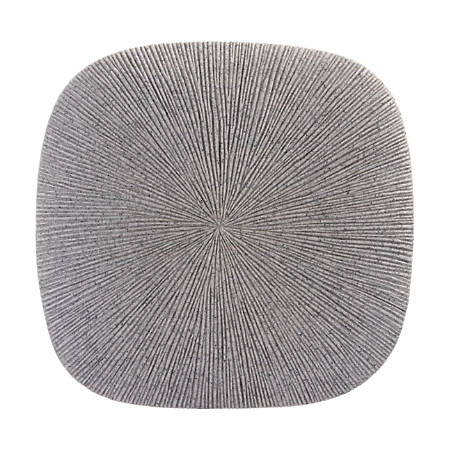 Zuo Modern Square Granite Plaque, Small, Light Gray