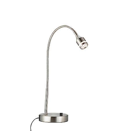 "Adesso® Gooseneck Desk Lamp, 15""H, Satin"