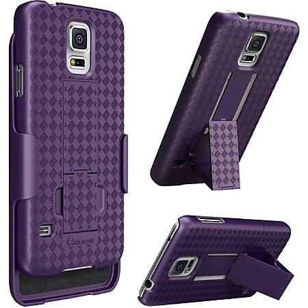 i-Blason Transformer Carrying Case (Holster) Smartphone - Purple - Fingerprint Resistant, Shatter Resistant, Drop Resistant - Rubber - Textured - Holster, Belt Clip