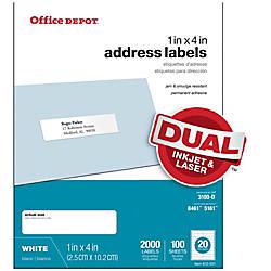 Office Depot Brand White InkjetLaser Address