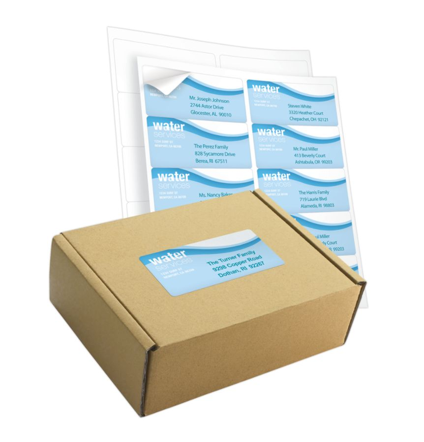 Office depot brand white inkjetlaser shipping labels 505 o004 0008 2 x 4 box of 1000 by office depot officemax