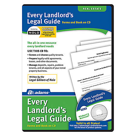 Adams® Every Landlord's Legal Guide, For PC And Apple® Mac®, Traditional Disc