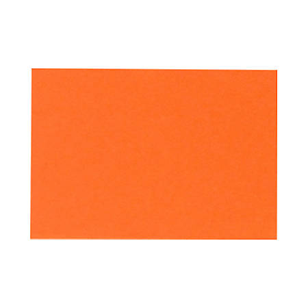 """LUX Flat Cards, A9, 5 1/2"""" x 8 1/2"""", Mandarin Orange, Pack Of 50"""