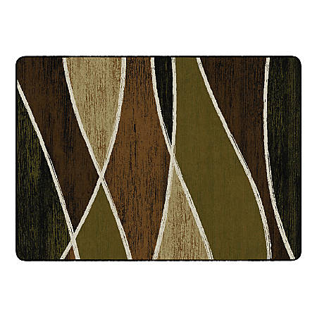 "Flagship Carpets Waterford Rectangular Area Rug, 72"" x 100"", Green"