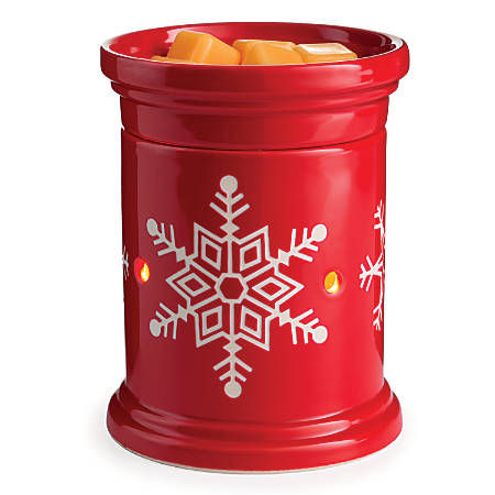 """Candle Warmers Etc Illumination Fragrance Warmers, 8-13/16"""" x 5-13/16"""", Snowflake, Case Of 6 Warmers"""