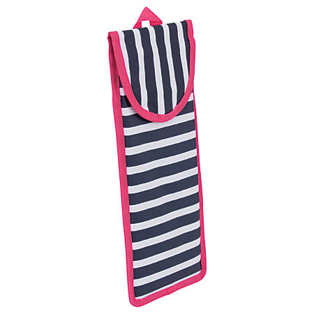 """See Jane Work® Going Places Hot Tools Pouch, 14 1/4""""H x 5 1/2""""W x 1""""D, Navy Stripe"""