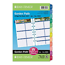 Day Timer Garden Path Loose Leaf