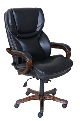 Serta Big And Tall Faux Leather High Back Office Chair Blackdark