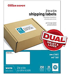 Office Depot Brand White InkjetLaser Shipping