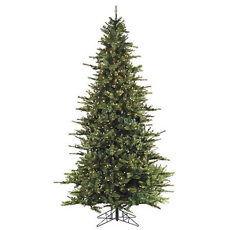 Fraser Hill Farm 7 1/2' Southern Peace Pine Artificial Christmas Tree With Smart String Lighting, Green/Black