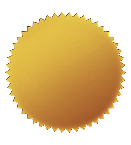 Great Papers Foil Certificate Seals 1 34 Gold Pack Of 50 by Office Depot &  OfficeMax