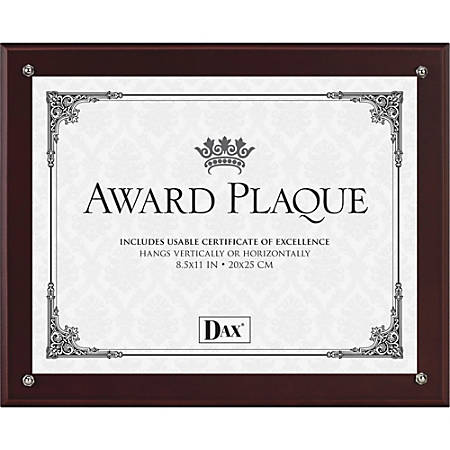 Dax Burns Grp. Plaque-In-An-Instant Kit - Mahogany1 Each