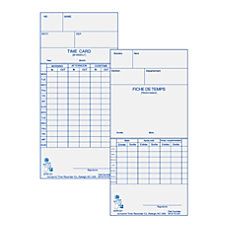 Acroprint WeeklyBi Weekly Time Cards For
